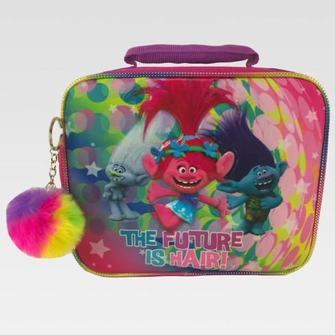 Trolls Lunch Box with Pom-Pom - Pink - image 1 of 3