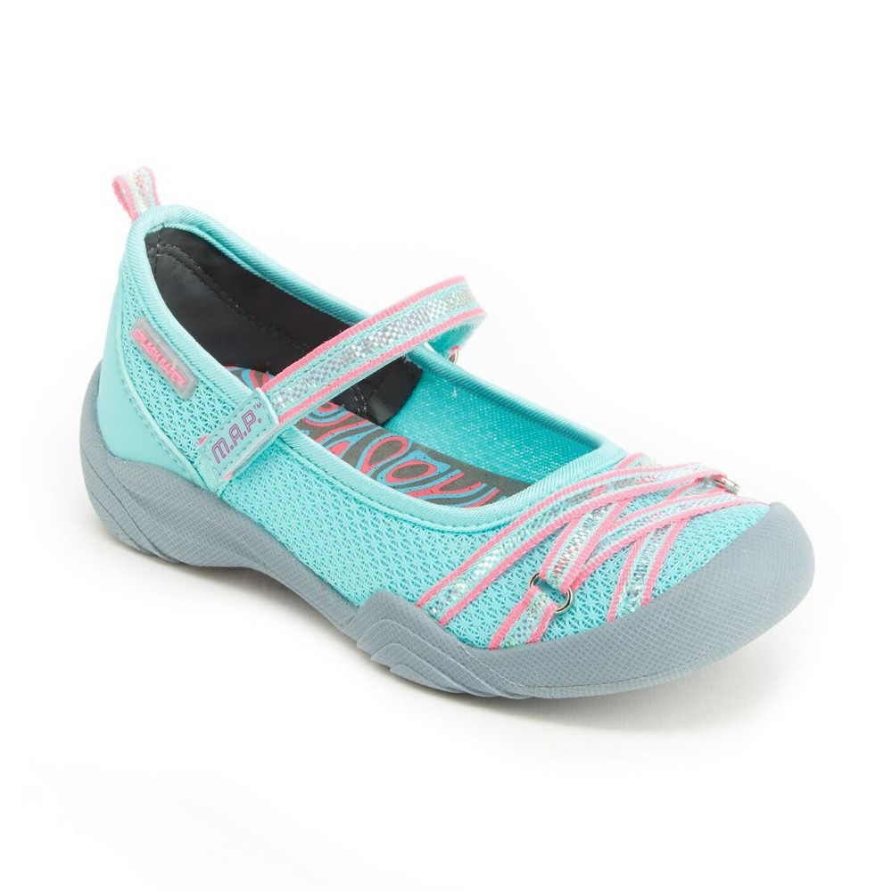 Girls' M.A.P. Lilith Mary Jane Shoes - Mint (Green) 5