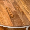 Berwyn Round Coffee Table Metal and Clear Wood - Threshold™ - image 4 of 4