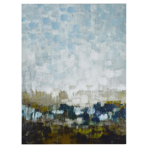 Abstract Land Gel Coated Canvas - image 1 of 4