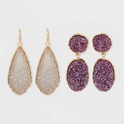 SUGARFIX by BaubleBar Druzy Drop Earring Gift Set