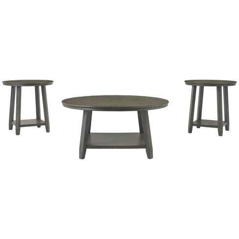 3pc Caitbrook Coffee And End Table Set Gray Signature Design By Ashley Target
