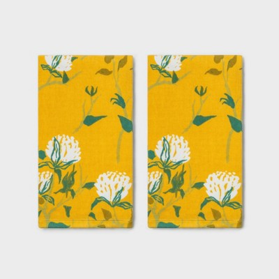 2pk Mums Hand Towel Yellow - Threshold™