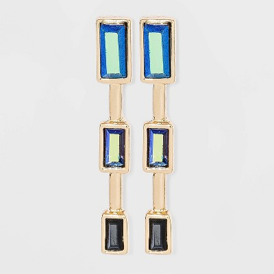 Baguette Stone Post Earrings - A New Day™