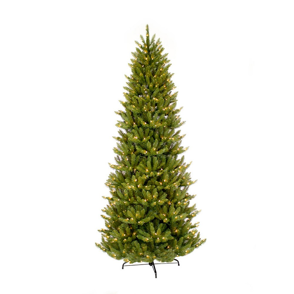 Image of 10ft Pre-lit Artificial Christmas Tree Full Forest Fir - Puleo