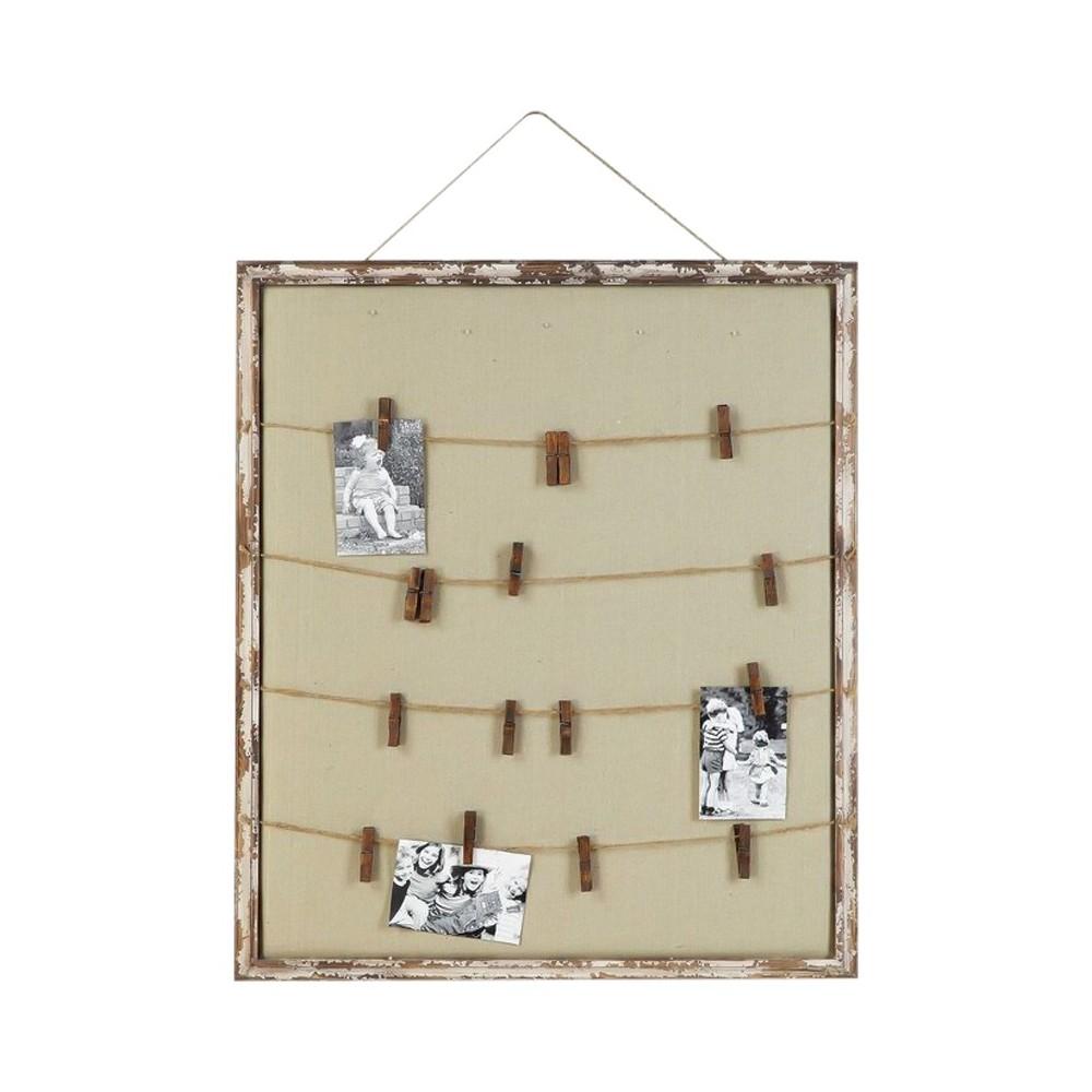 Wood Memo Holder (28x32) - 3R Studios, Brown