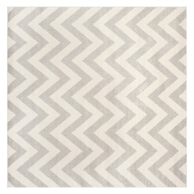 7'X7' Square Amherst Outdoor Patio Rug Light Gray/Beige - Safavieh
