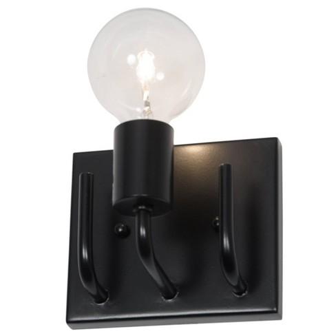 "5"" Socket-To-Me 1 Light Vanity Black Finish - Varaluz - image 1 of 4"