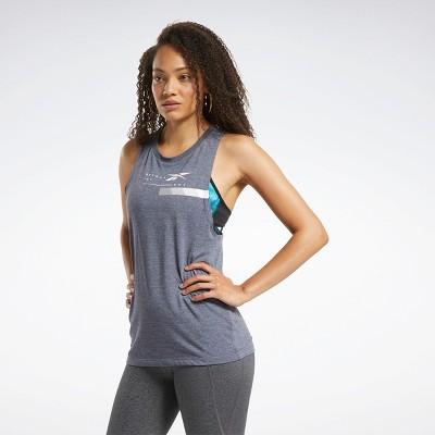 Reebok ACTIVCHILL+COTTON Graphic Tank Top Womens Athletic Tank Tops