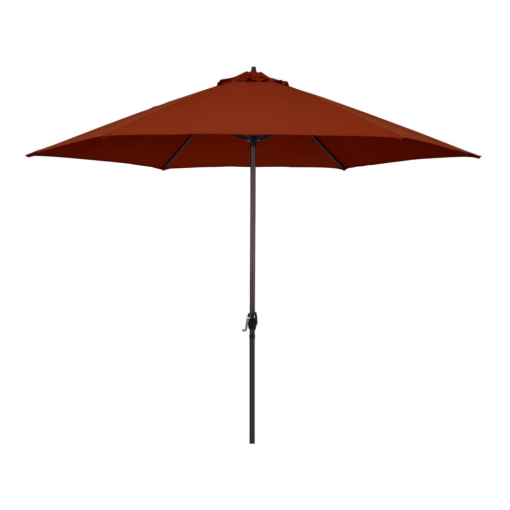 Image of 11' Patio Umbrella - Aluminum Pole with Crank Lift Brick - Astella