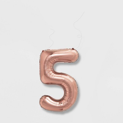 """5"" Foil Balloon Rose Gold - Spritz™"