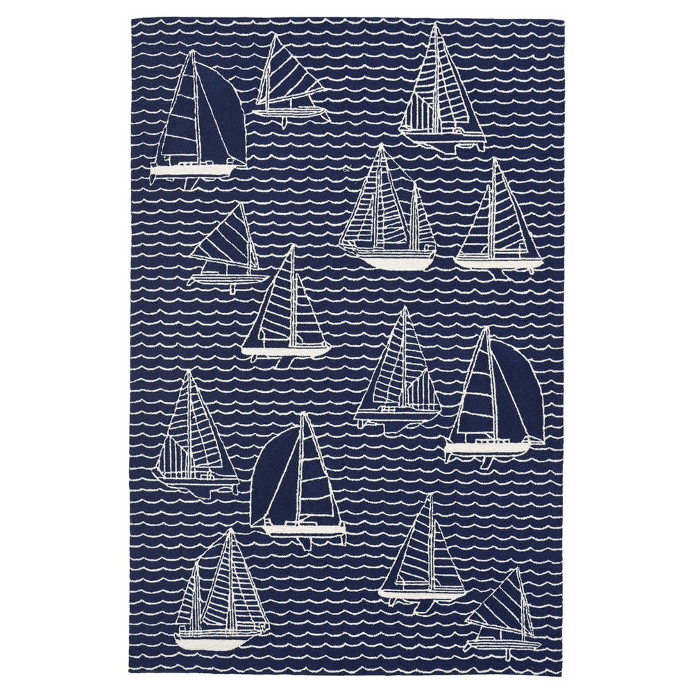 Navy (Blue) Boat Tufted Accent Rug 3'6