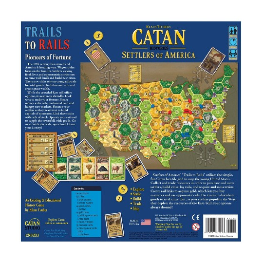 Mayfair Games Catan Histories Settlers of America Trails to Rails Board Game image number null