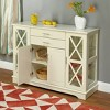 Kendall Buffet Wood/Antique White - TMS - image 3 of 3