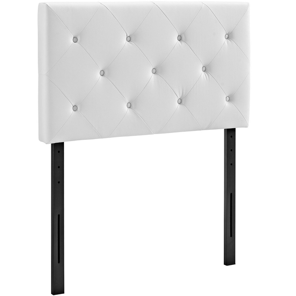 Terisa Twin Upholstered Vinyl Headboard White - Modway