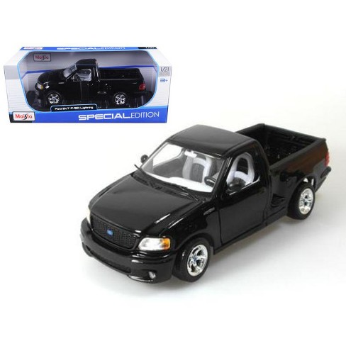 Ford F 150 Svt Lightning Black Pick Up Truck 1 21 Diecast Model By