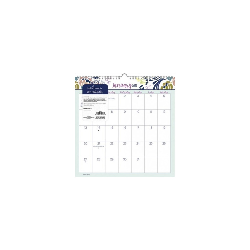 Surf Bella Caronia 2019 Calendar - (Paperback)