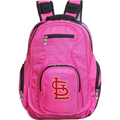MLB St Louis Cardinals Pink Laptop Backpack