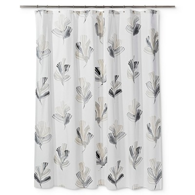Printed Leaf Shower Curtain Radiant Gray - Project 62™