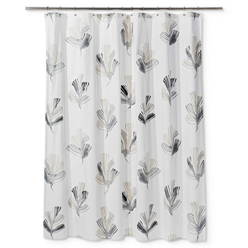 15fd516abd Printed Leaf Shower Curtain Radiant Gray - Project 62™ : Target