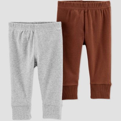 Little Planet Organic by Carters Baby Boys' 2pk Pants - Red Newborn