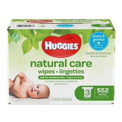 Huggies Natural Care Wipes 3pk - 552ct
