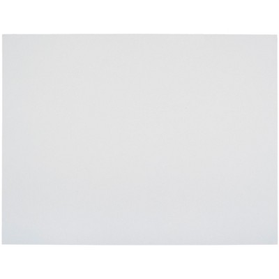 School Smart Poster Boards, 22 x 28 Inches, 8-Ply Thickness, White, pk of 25