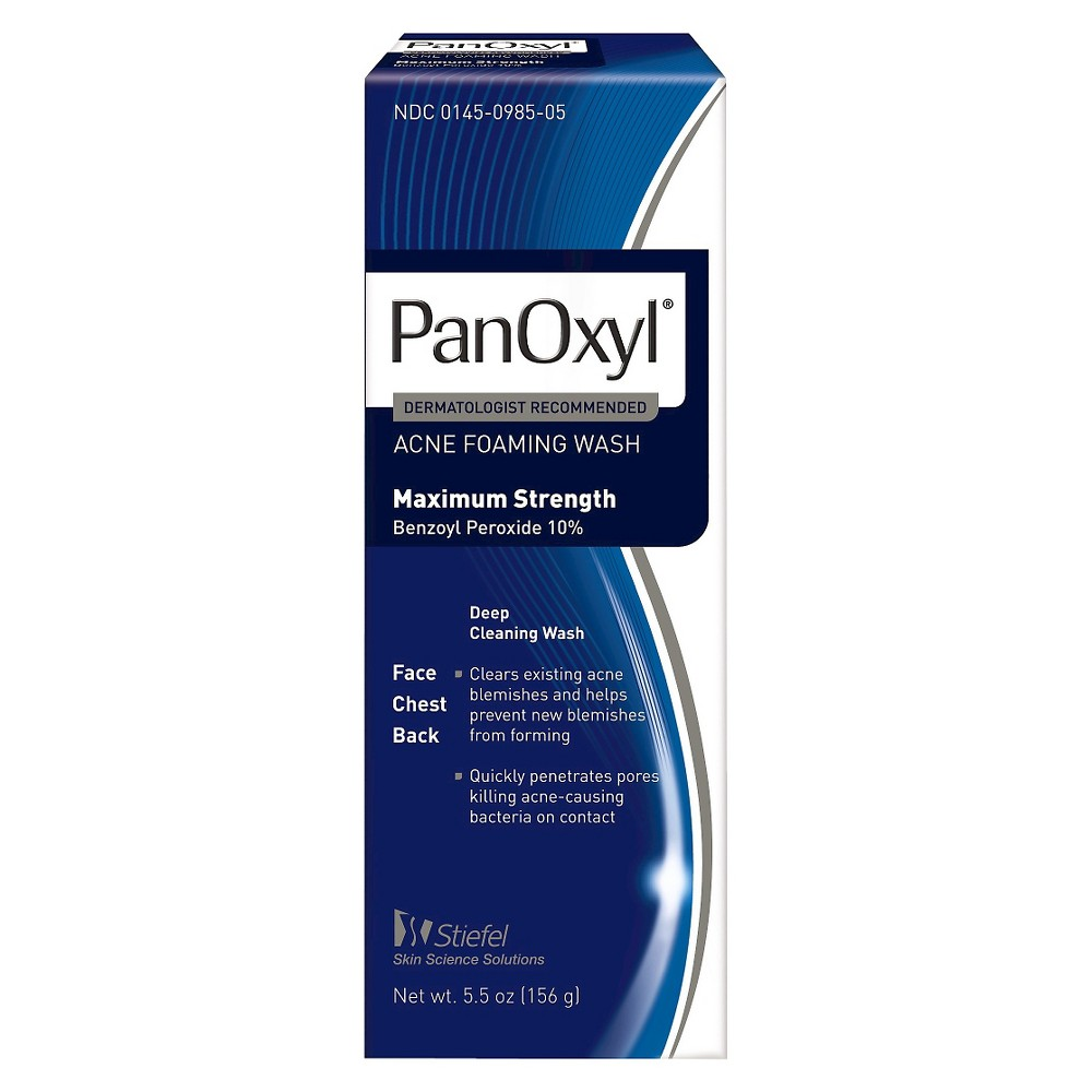 Image of PanOxyl Acne Foaming Wash with 10% Benzoyl Peroxide - 5.5oz