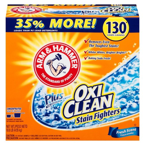 Arm & Hammer Plus OxiClean Fresh Scent Laundry Detergent Powder - 130 Loads (10 lb) - image 1 of 3