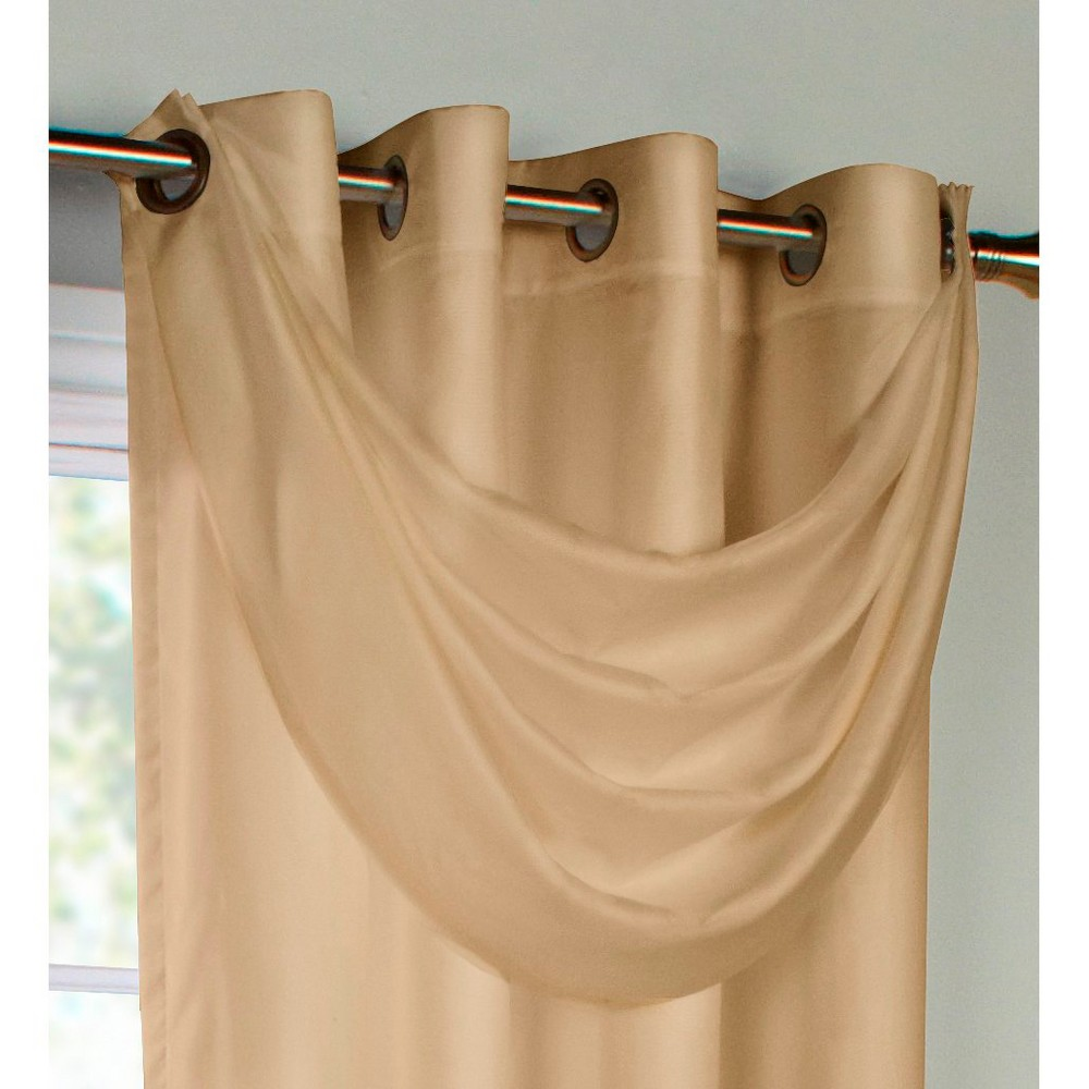Thermavoile Rhapsody Lined Grommet Crescent Valance - Mushroom (Brown) (36x19)
