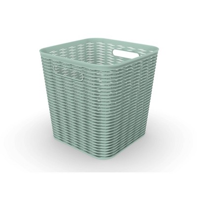 "11"" 16L Wave Design Cube Basket - Room Essentials™"