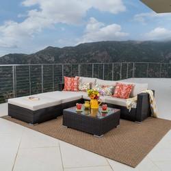 Santa Rosa 7pc Wicker Sectional Sofa - Christopher Knight Home