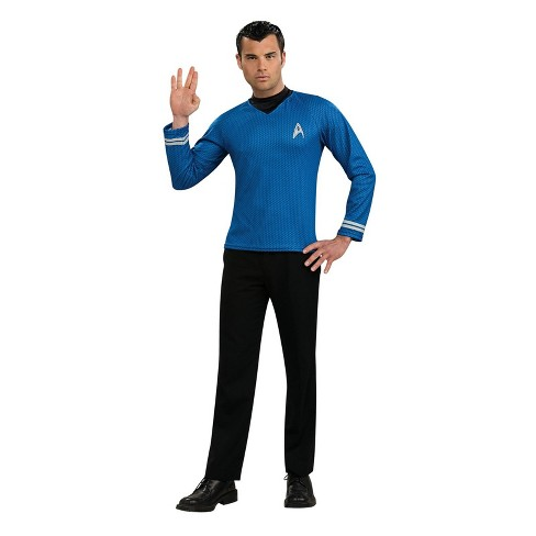 Men's Star Trek Spock Shirt Halloween Costume - Blue - image 1 of 1