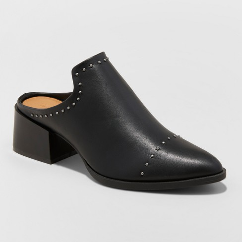 Women's Crista Studded Pointed Toe Heeled Mules - Universal Thread™ - image 1 of 4