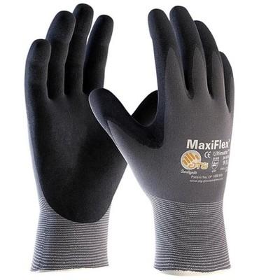 G-Tek MaxiFlex Ultimate Nitrile Coated Gloves, Gray 34-874/S