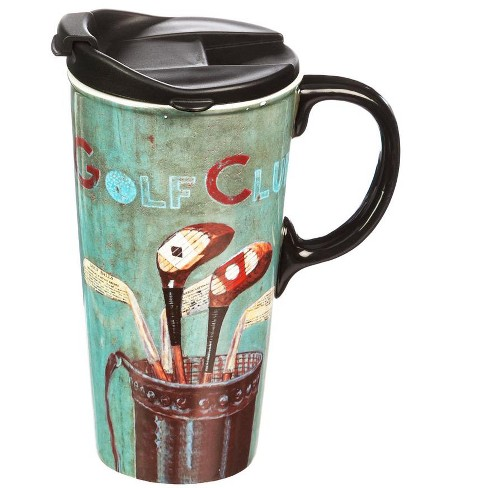 Evergreen Flag Ceramic Travel Cup, 17 oz., Golf Club - image 1 of 1