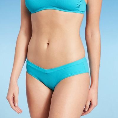 Juniors' Ribbed V Cheeky Bikini Bottom - Xhilaration™ Blue