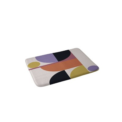 Color Poems Mid Century Modern Abstract Memory Foam Bath Mat - Deny Designs
