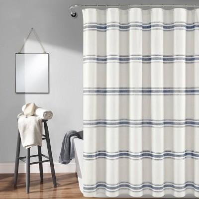 Farmhouse Striped Shower Curtain - Lush Décor