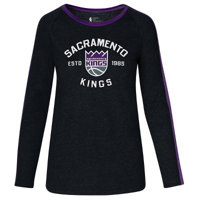 NBA Sacramento Kings Women's Team Shoulder Stripe Sweatshirt