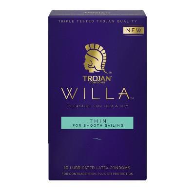 Trojan Willa Thin Condoms - 10ct