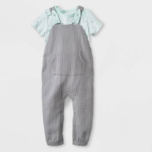 6989de72c622 Baby Boys  Bunny Bodysuit Long Romper Set - Cat   Jack™ Gray Green ...