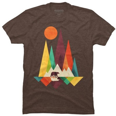 Mountain Bear Mens Graphic T-Shirt - Design By Humans