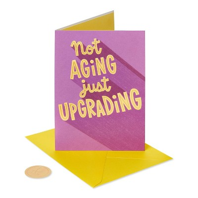 Birthday Card for Husband Not aging Just Upgrading - PAPYRUS