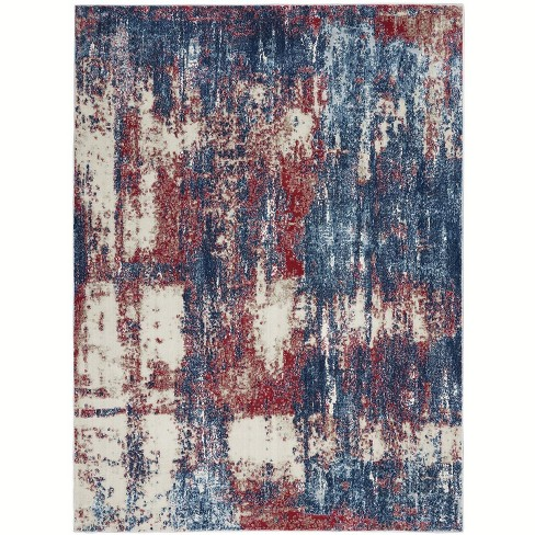 Imt02 Red White Blue Indoor Area Rug