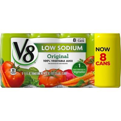 V8 Original Low Sodium 100% Vegetable Juice - 8pk/5.5 fl oz Cans