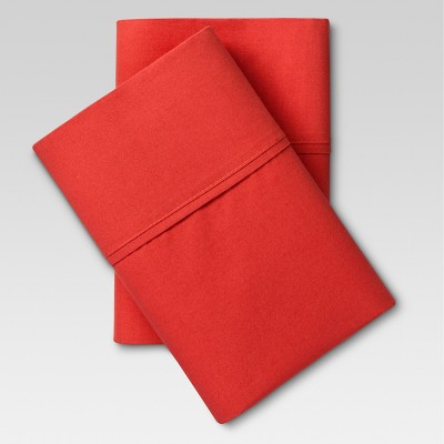 Ultra Soft Pillowcase Set (King)Red Orange 300 Thread Count - Threshold™