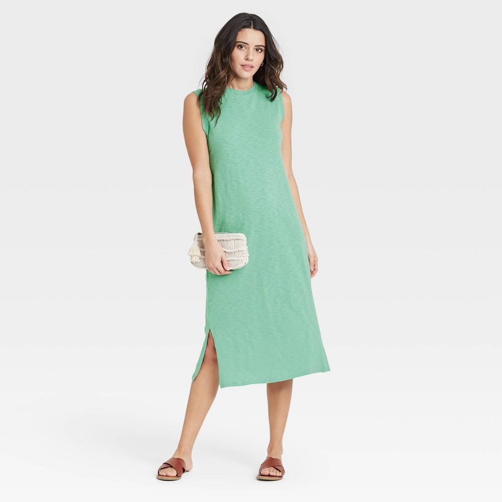 Women 39 S Sleeveless Knit Dress Universal Thread 8482 Light Green Xl