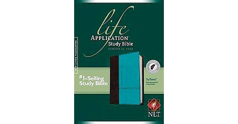 Life Application Study Bible : New Living Translation, Dark Brown / Teal Tutone Leatherlike, Personal - image 1 of 1