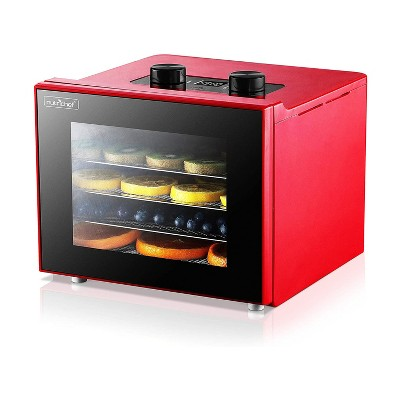NutriChef Premium Food Electric 350 Watts Multi Tier Kitchen Dehydrator Machine with 4 Stainless Steel Trays, Digital Timer, and Temperature Control